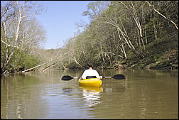 kayaking on Blue River